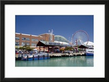 Navy Pier Along the Shores of Lake Michigan  Chicago  Illinois