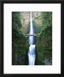 View of Multnomah Falls in Columbia Gorge  Oregon  USA