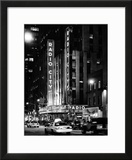 Radio City Music Hall and Yellow Cab by Night  Manhattan  Times Square  NYC  USA