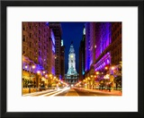City Hall and Avenue of the Arts by Night  Philadelphia  Pennsylvania  United States