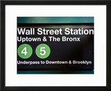 Subway Station Sign  Wall Street Station  Manhattan  New York City  United States