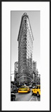Flatiron Building with Yellow Cabs  Fifth Avenue  Broadway  Manhattan  New York