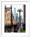 Roosevelt Island Tram and Ed Koch Queensboro Bridge (Queensbridge) Views  Manhattan  New York  US