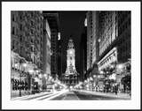 City Hall and Avenue of the Arts by Night  Philadelphia  Pennsylvania  US