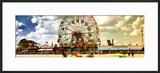 Panoramic View  Vintage Beach  Wonder Wheel  Coney Island  Brooklyn  New York  United States