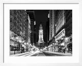 City Hall and Avenue of the Arts by Night  Philadelphia  Pennsylvania  US