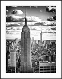 Cityscape  Empire State Building and One World Trade Center  Manhattan  NYC