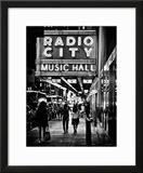 Urban Scene  Radio City Music Hall by Night  Manhattan  Times Square  New York  Classic