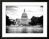 Capitol Reflecting Pool and the Capitol Building  US Congress  Washington DC  District of Columbia