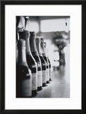 Champagne Bottles in a Row