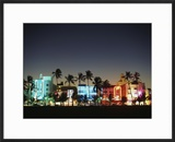 Art Deco Hotels at Dusk  Miami Beach  Florida  USA
