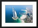 Aerial View of the Burj Al Arab  Dubai  United Arab Emirates