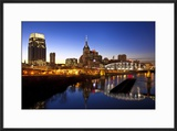 City Skyline at Dusk  Nashville  Tennessee  USA