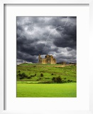Lightning over Ruins of the Rock of Cashel  Tipperary County  Ireland