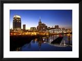City Skyline at Dusk  Nashville  Tennessee  USA