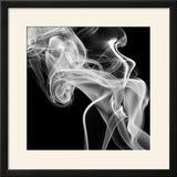 Black Smoke Abstract Square