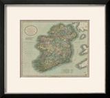 Vintage Map of Ireland