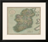 Vintage Map of Ireland