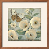 Butterfly and Hollyhocks II