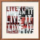 Live the Dream Black and White I