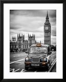 London Taxi and Big Ben - London - UK - England - United Kingdom - Europe