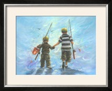 Two Little Boys Going Fishing