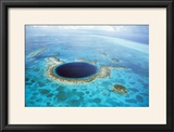 Belize Aerial of Belize Blue Hole