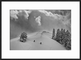 Backcountry Ski Climbers in Fresh Powder  Near Salt Lake City  Utah