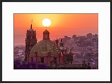 Mexico  San Miguel De Allende City Overview at Sunset
