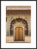 India  Rajasthan  Jaipur  Peacock Door at City Palace