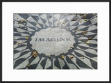USA  New York  City  Central Park  John Lennon Memorial  Imagine