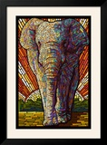 Asian Elephant - Paper Mosaic