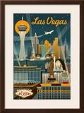 Las Vegas  Nevada - Retro Skyline
