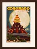 San Diego  California - Hotel Del Coronado and Moon