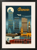Denver  Colorado - Retro Skyline