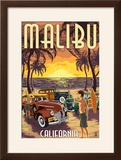 Malibu  California - Woodies on the Beach