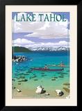 Lake Tahoe - Kayakers in Secret Cove