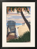 Adirondack Chairs and Sunset - Florida