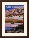 Glen Lake  Michigan - Lake Scene at Dusk