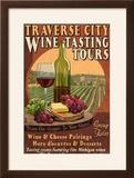 Traverse City  Michigan - Wine Tasting Vintage Sign