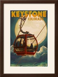 Keystone  Colorado - Gondola and Full Moon