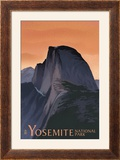 Half Dome - Yosemite National Park  California Lithography