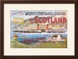 Steamship Royal Route of Scotland - Vintage Poster