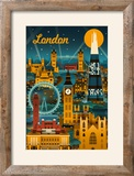 London  England - Retro Skyline