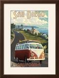San Diego  California - VW Van Cruise