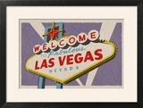 Las Vegas  Nevada - Welcome Sign Woodblock