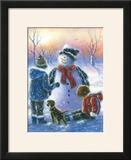 Chubby Snowman Boy and Girl