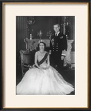 HM Queen Elizabeth II and Hrh Duke of Edinburgh at Buckingham Palace  12th March 1953