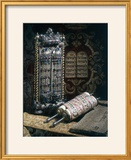 Scrolls of the Torah  Torah Cover and the Ten Commandments  1797