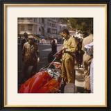 A Ferrari Team Member Filling a Car with Fuel  Monaco Grand Prix  Monte Carlo  1963
